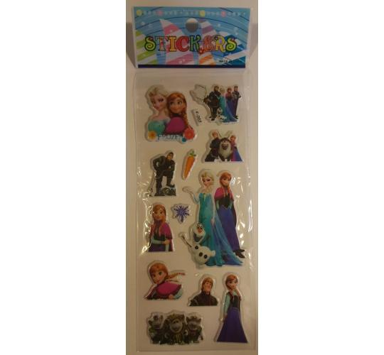 200 3D Foam High Quality Stickers - Disney - Frozen - Animals