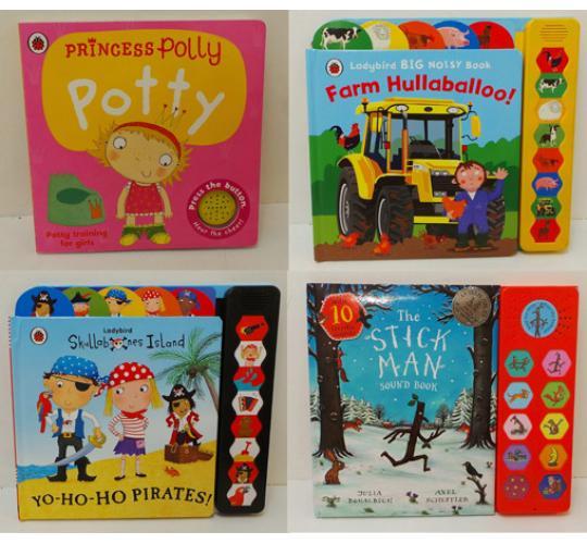 One Off Joblot of 116 Children's Sound Books Peppa Pig Princess Polly Etc