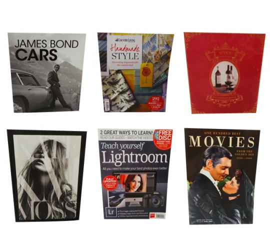One Off Joblot of 27 Mixed Books James Bond Kate Moss Wine Photography Etc
