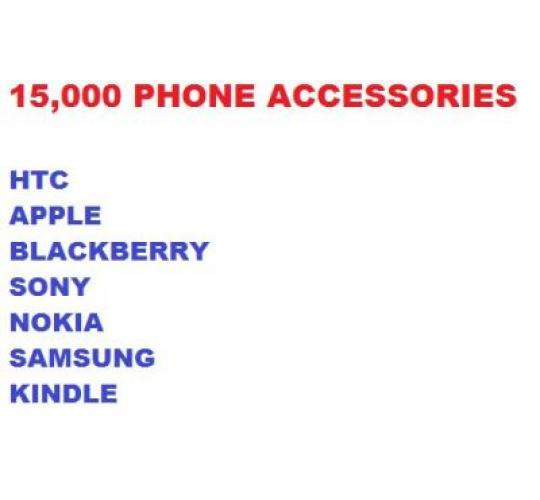 15,000 Mobile phone accessories