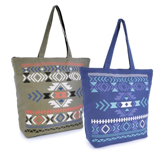 Wholesale Joblot Of 24 Aztec Printed Bags- BB0894