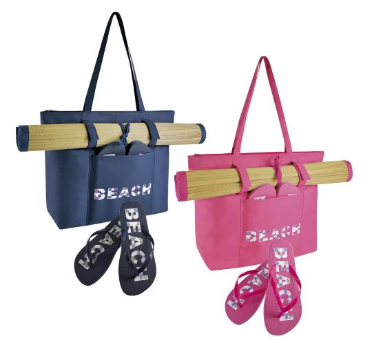 Wholesale Joblot Of 20 Beach Mat, Bag And Flip Flop Sets- BB0896
