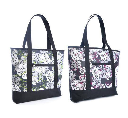Wholesale Joblot Of 24 Hibiscus Print Shopper Cool Bags- BB0826
