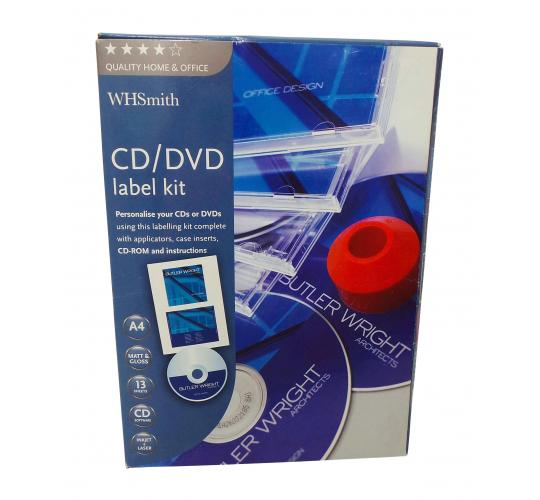 One Off Joblot of 35 Ex High Street Branded CD/DVD Labelling Kits