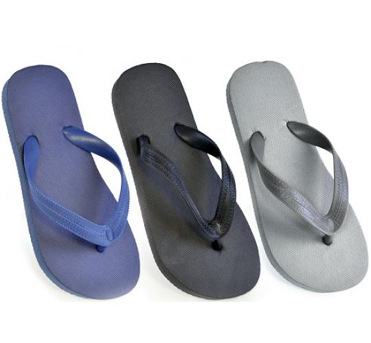 Clearance Parcel of 60 Boys Solid Colour Flip Flops in 3 Colours -FT0824