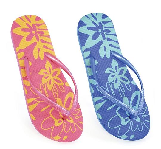 Clearance Parcel of 60 Ladies Hawaiian Printed Flip Flops - FT0288A