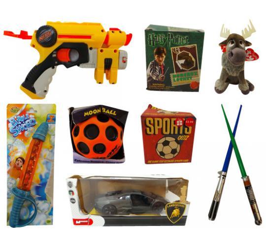Joblot of 146 Children's Toys Huge Variety of Items Ty Star Wars Nerf Guns Etc