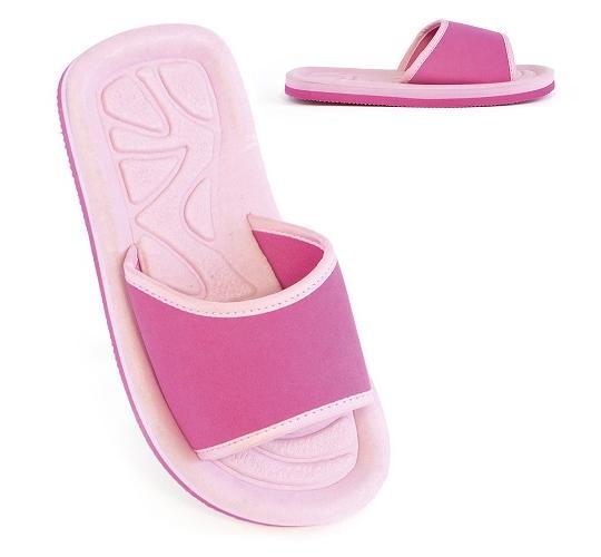 Clearance Parcel of 48 Girls Pink Pool Slide Sandals -FT0818