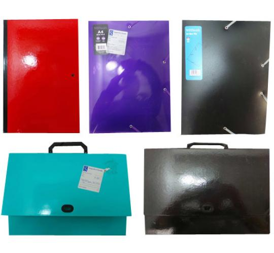 One Off Joblot of 84 Assorted Box Files Various Colours and Designs