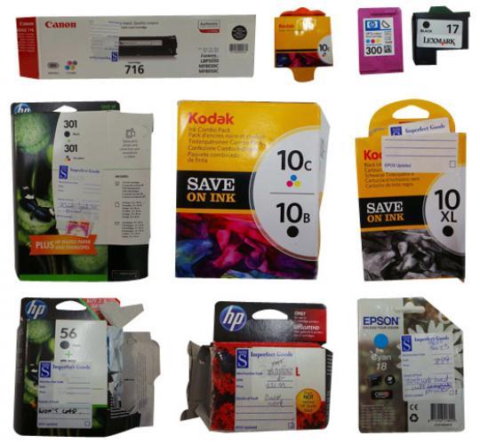 One Off Joblot of 192 Ink Cartridges Hp Canon Epson Kodak & Lexmark
