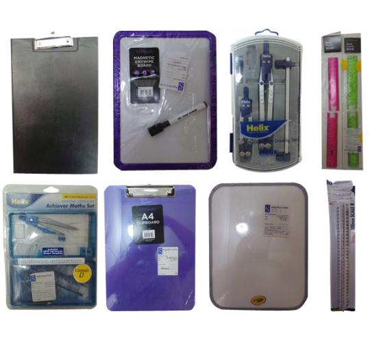One Off Joblot of 86 Assorted Clipboards Wipe Boards & Stationary Items