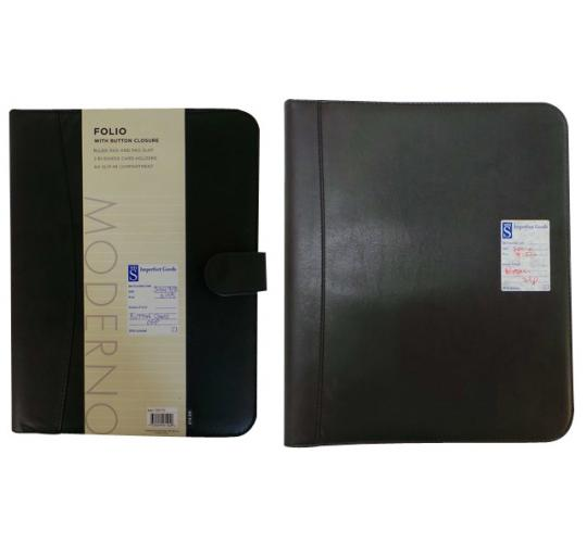 One Off Joblot of 37 Black Faux Leather Folios 2 Styles