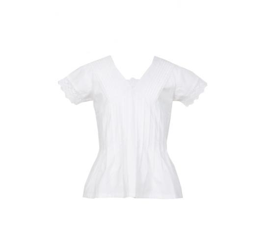 Joblot 125 designer girls white cotton blouse top in sizes 2,4,6,8,10,12