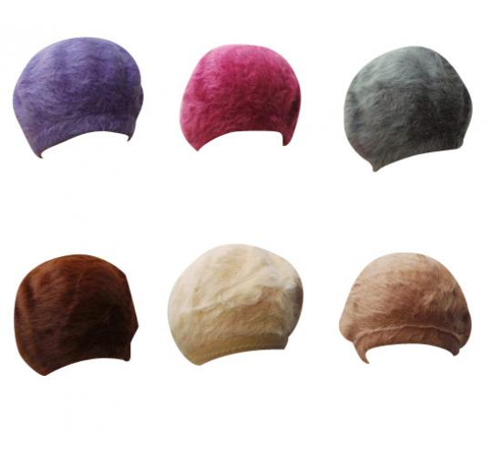 One Off Joblot of 134 Assorted Kangol Unisex Fluffy Beret Hats Mix of Colours