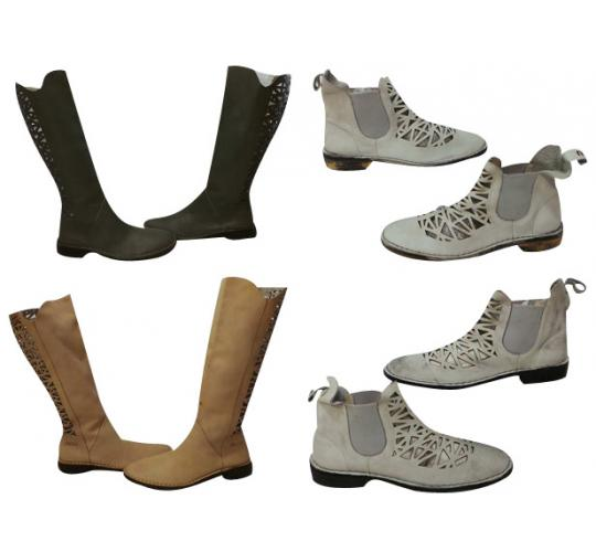 One Off Joblot of 4 Pairs of Ladies Mou Boots 3 Styles Tall and Ankle