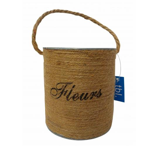 Wholesale Joblot of 54 Tbl Soho Fleurs Jute Antiqued Zinc Buckets 12cm