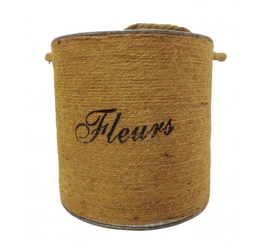 Wholesale Joblot of 24 Tbl Soho Fleurs Jute Antiqued Zinc Buckets 15cm
