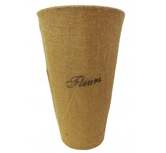Wholesale Joblot of 15 Tbl Bloomsbury 'Fleurs' Zinc Flower Hessian Vases 35cm