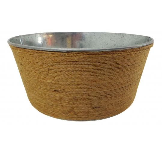 Wholesale Joblot of 30 Tbl Belgravia Jute Zinc Wrapped Bowls 19cm