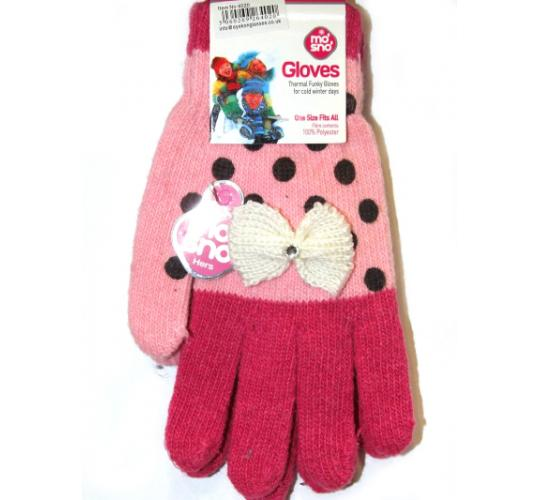 Job Lot Bundle of 192 Assorted Boys and Girls Unisex Mo'Sno Branded Gloves