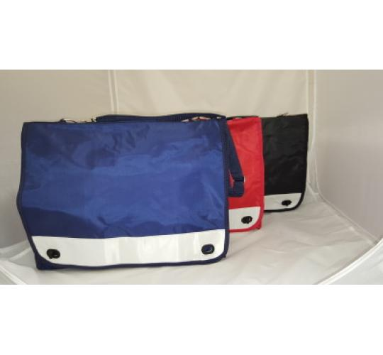 Red Black and Blue Nylon School or Laptop Bag