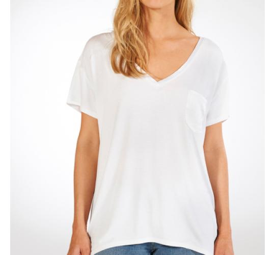 x43 Size UK 10, White, V-Neck Loose T-shirt, NEW WITH TAGS, Chic Hangers London