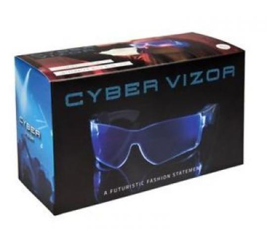 Cyber Vizor Visor LED Light Up Festival Glasses Rave Party Blue Cool