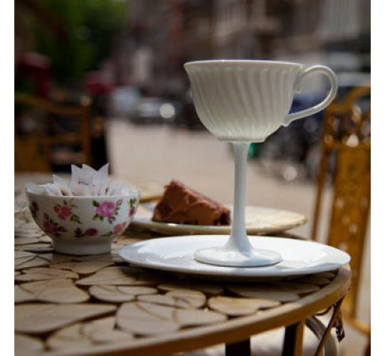 High Tea Cup and Saucer Set Novelty Ceramic Party 170ml