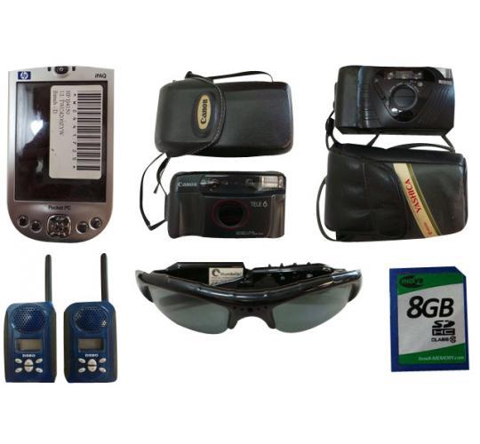 Joblot of 19 Assorted Electrical Items Cameras Pocket PCs Handsfree Speakers Etc