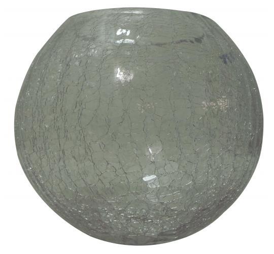 Wholesale Joblot of 16 Tbl 16cm Crackled Glass Goldfish Bowls