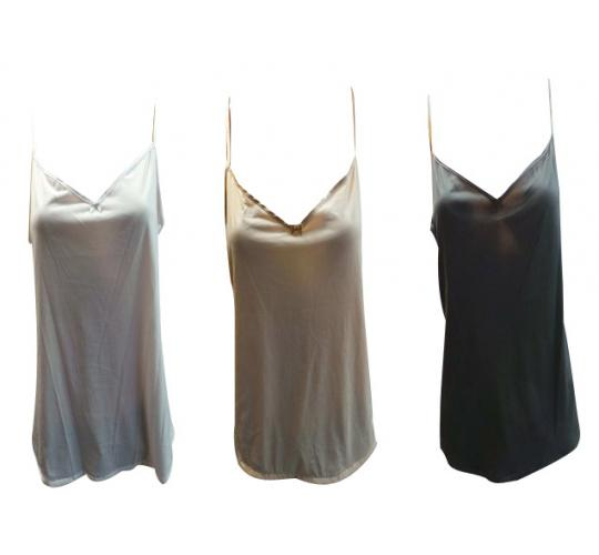 One Off Joblot of 70 Ladies Camisole Vest Tops 3 Colours Sizes 10-22