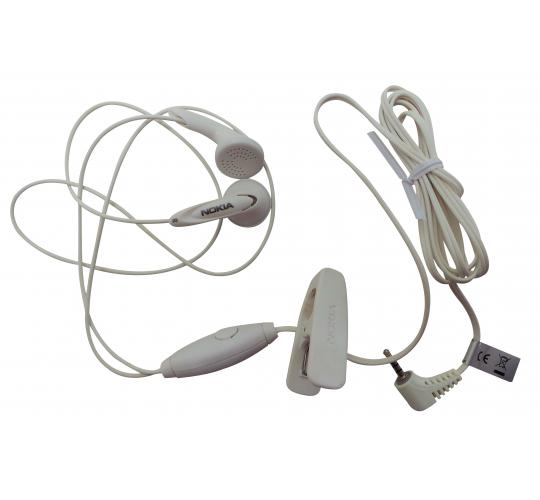 Wholesale Joblot of 50 Nokia Hands Free Headset White Headphones HS-7