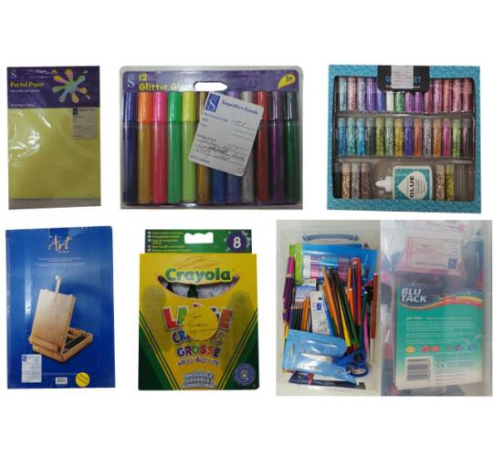 One Off Joblot of 137 Arts & Crafts Items Sets Glitter Glue Stationary Etc