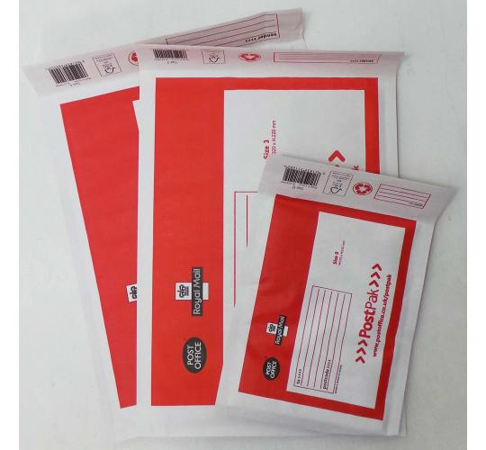 One Off Joblot Of 580 Post Office Bubble Envelopes In Assorted Sizes