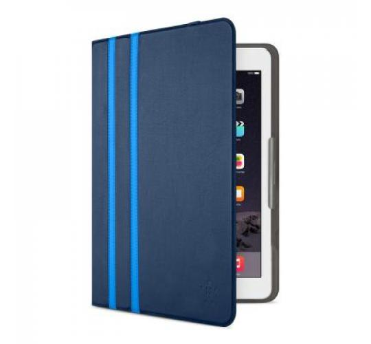 22 x Belkin Twin Stripe Folio Case with Multiple Viewing Angles for iPad Air and Air 2 - Deep Sea Blue - RRP 39.99