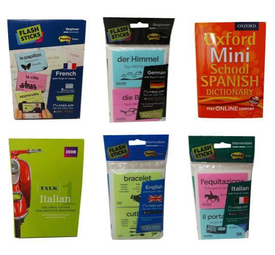 Joblot of 49 Educational Language Items Spanish German French Italian English