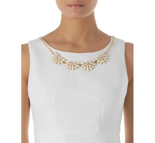 Floral Emboss Necklace Dress