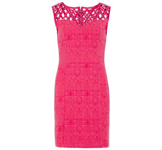 Zibi London Diamante Lattice Bodice Dress