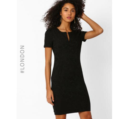 Zibi London Jacquard Shift Dress