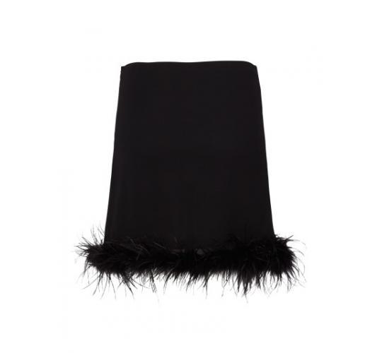 Zibi London Marabou Feather Hem Skirt