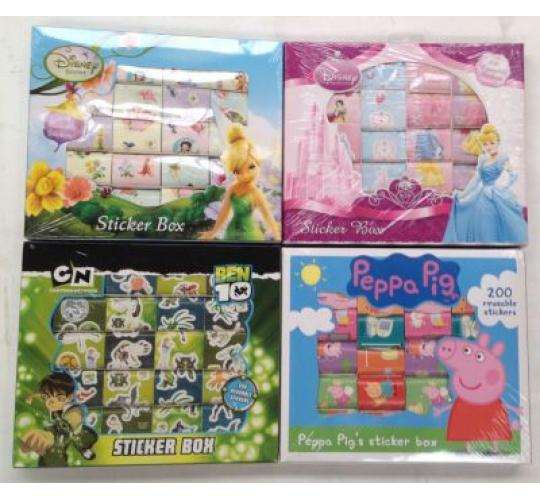 Mixed Characters Sticker Boxes