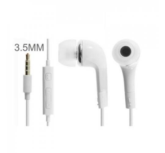 100 X Handsfree Headphones Earphones with Mic Samsung Galaxy S4 S5 iPhone iPod Nokia HTC