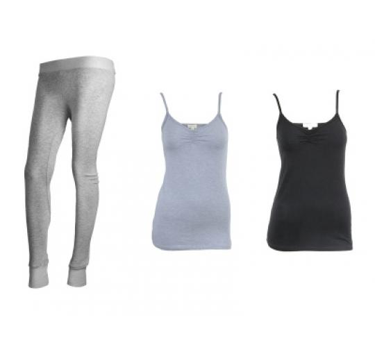 Ladies Cotton Leggings & Bamboo Knit Tank Tops