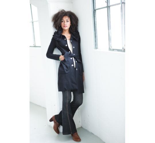 Ladies Organic Cotton Coat with Hood