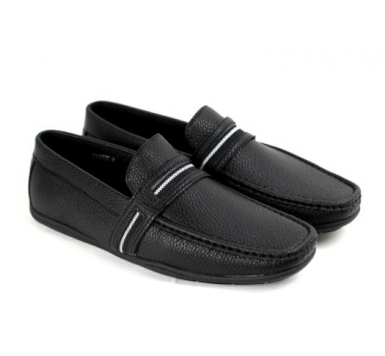 Joblot of 12 pairs Mens Black loafers slip ons Brand New All Sizes