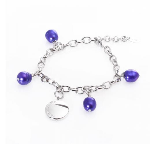 VIS Moment, 35x Fiji - Blue Freshwater Pearl, Bracelet Necklace RRP: £665