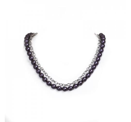 VIS Moment, 58x Fiji -Bronze Glass Pearl Bracelet, Necklace, RRP: £1398