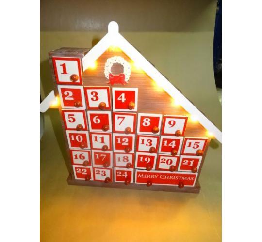 Wooden Light Up Advent Calendars - High Sellers - Big Discount