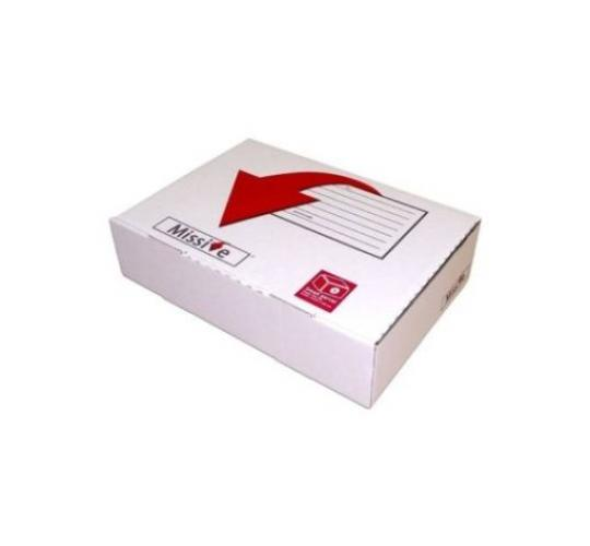 Small Mailing Box 318 x 222 x 80mm - A4 Plus - Corrugated Board - Strong - White