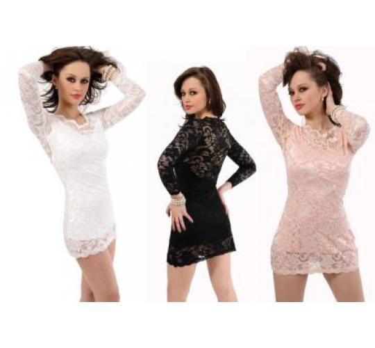Sexy ladies one sleeve lace dress S M L